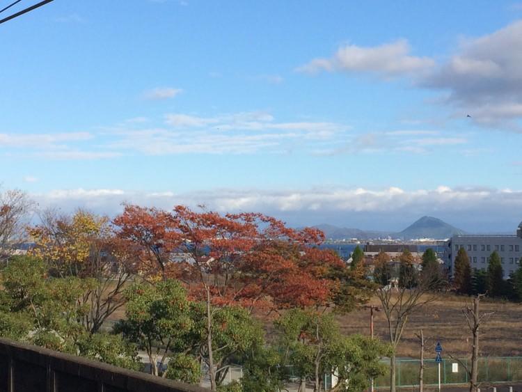 唐崎駅から見える琵琶湖