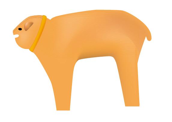 三宅町から出土の犬型埴輪。顔が丸くてかわいい!