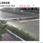 曽我川増水(20171021)