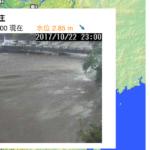 寺川増水(20171021)