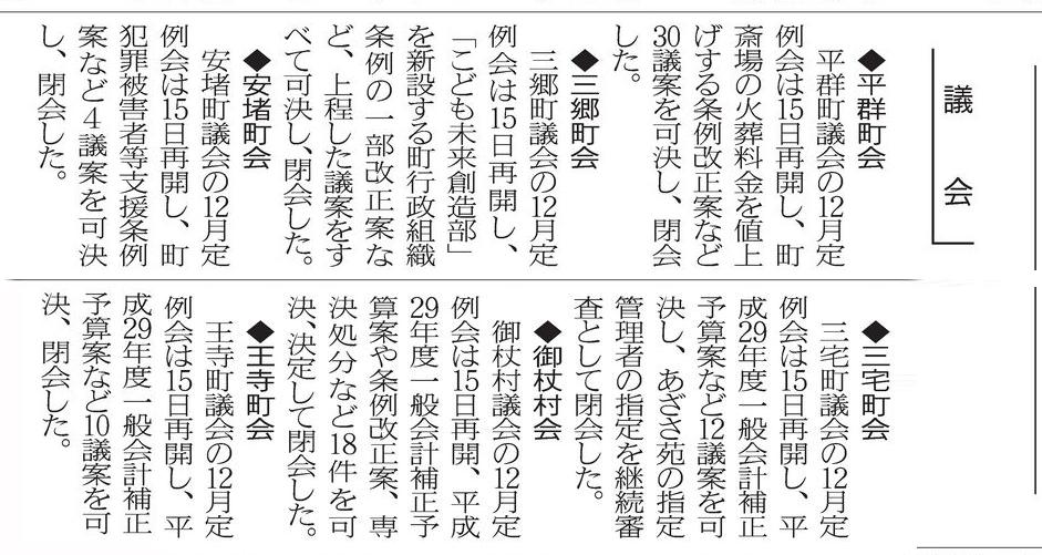 平成29年12月16日奈良新聞より